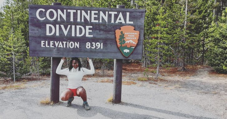 Shilletha Curtis Continental Divide in Yellowstone National Park