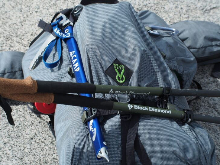 Seek outside flight one review: attachment points on the pack