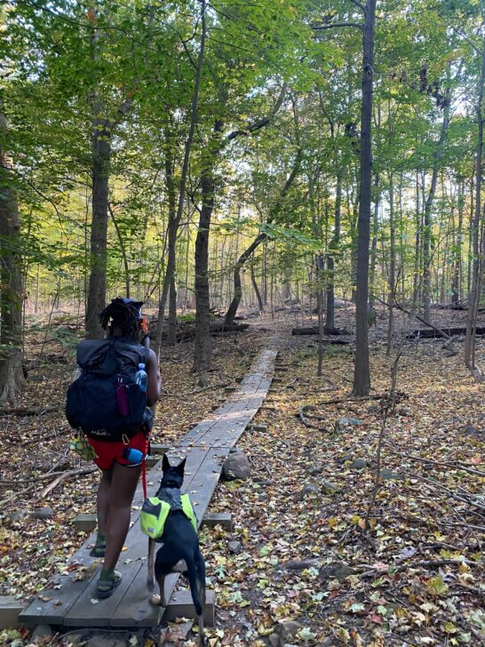 Shilletha Curtis Hiking with Dog 2