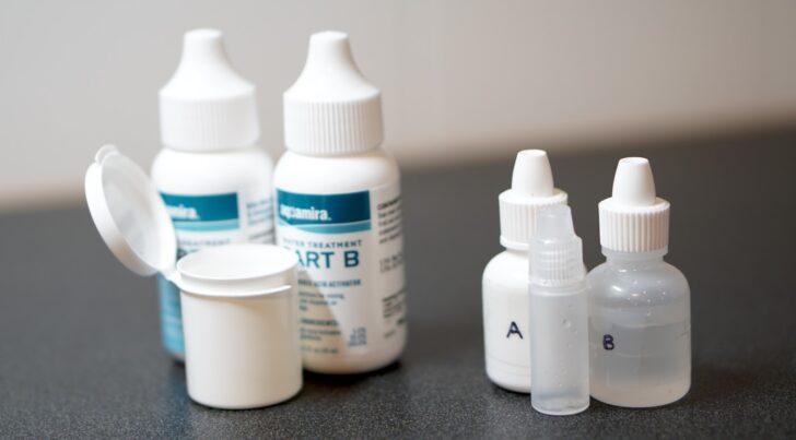 aquamira water treatment kit mini dropper bottles