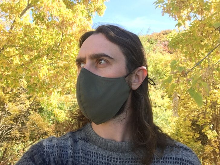 The author in a mask.