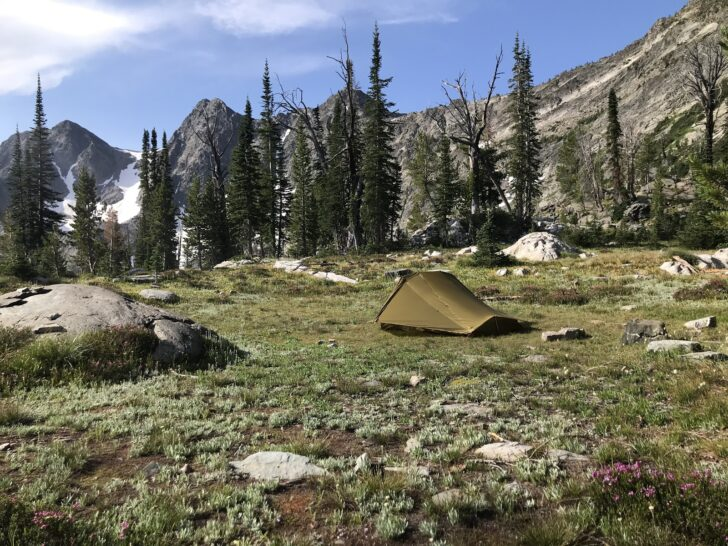 A subalpine campsite.
