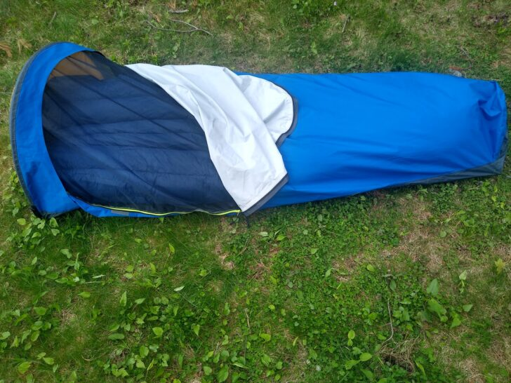 Top down view of the Stargazer AscentShell Bivy.