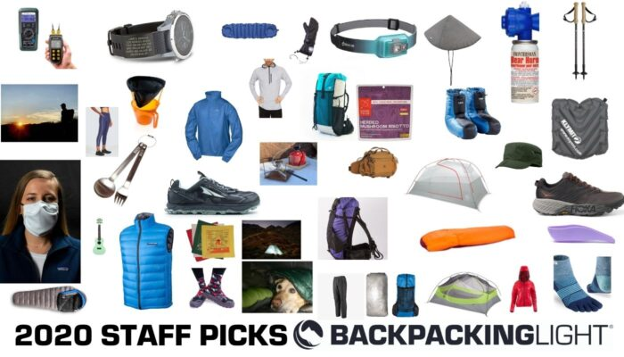 backpacking light staff picks - a photo collage showing all of the gear