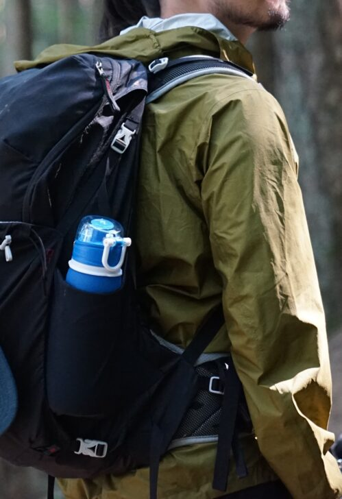 Helly Hansen Jacket worn under a backpack