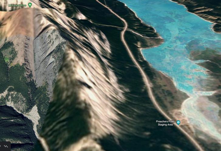 Preachers Point, AB, via Google Earth