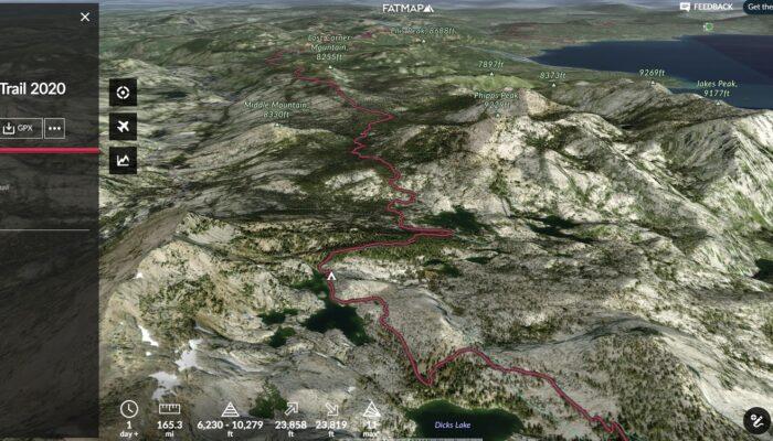 a map showcasing the 3D resolution of FATMAP software