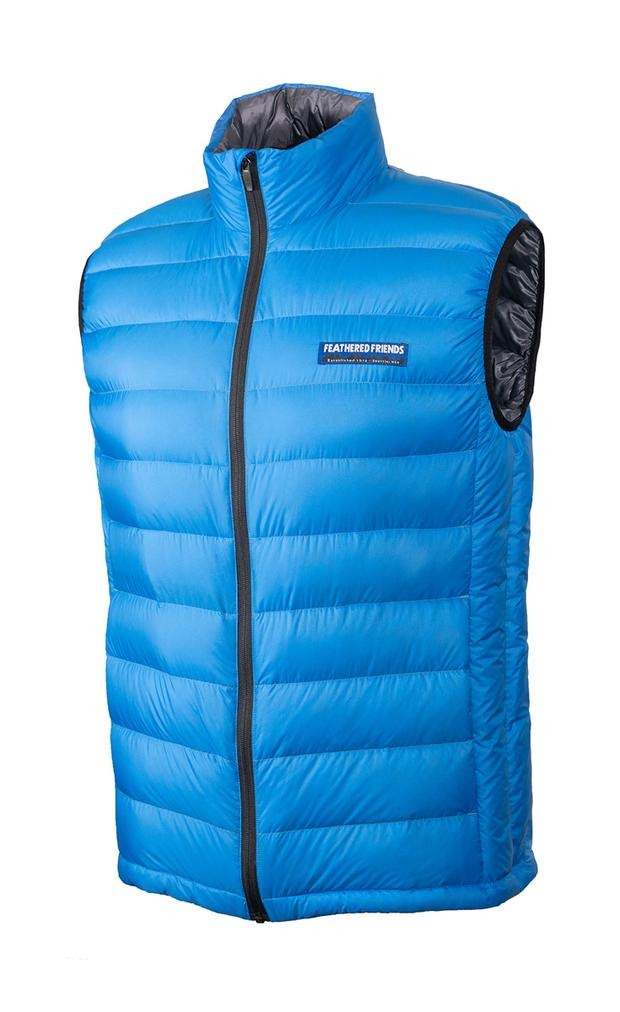 feathered friends mens eos down vest ultralight 2