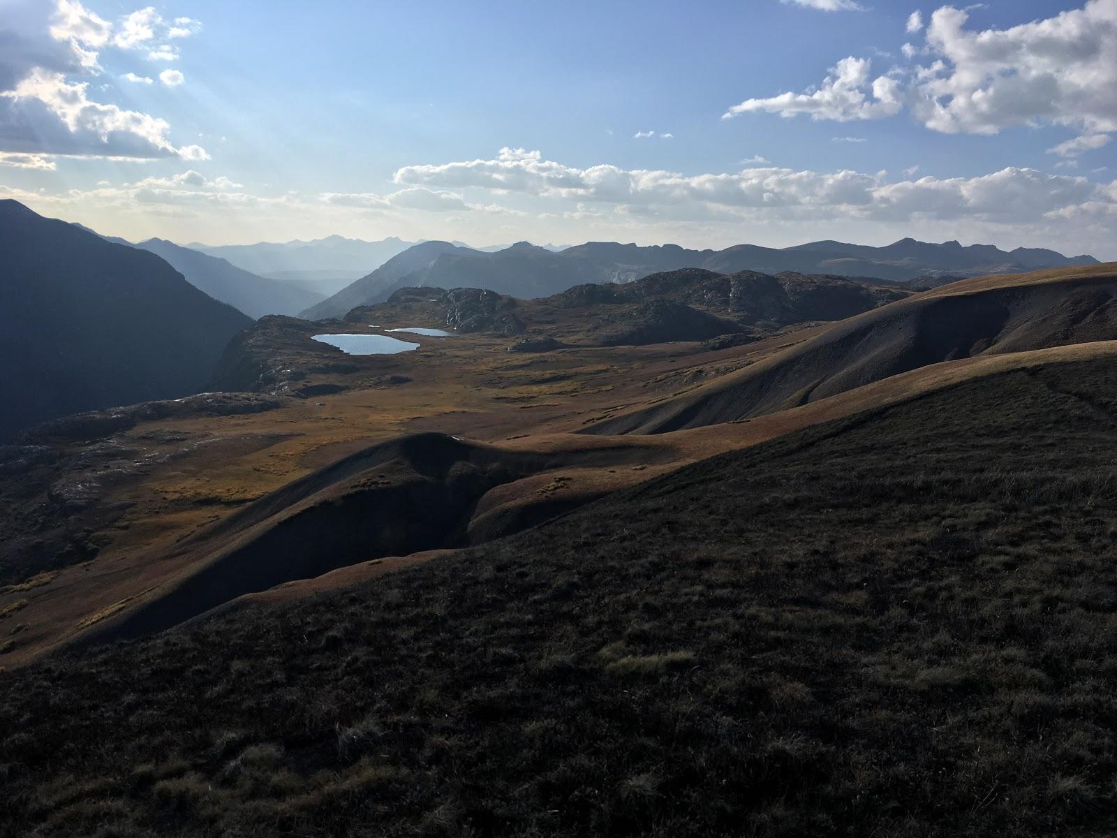 Overlooking the San Juan Mountains.