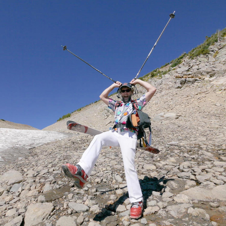 Mike Cecot-Scherer on a ski trip