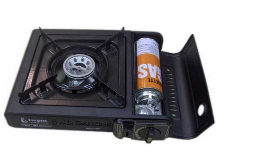 Table top stove with a butane canister