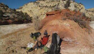 lunch in upper paria canyon