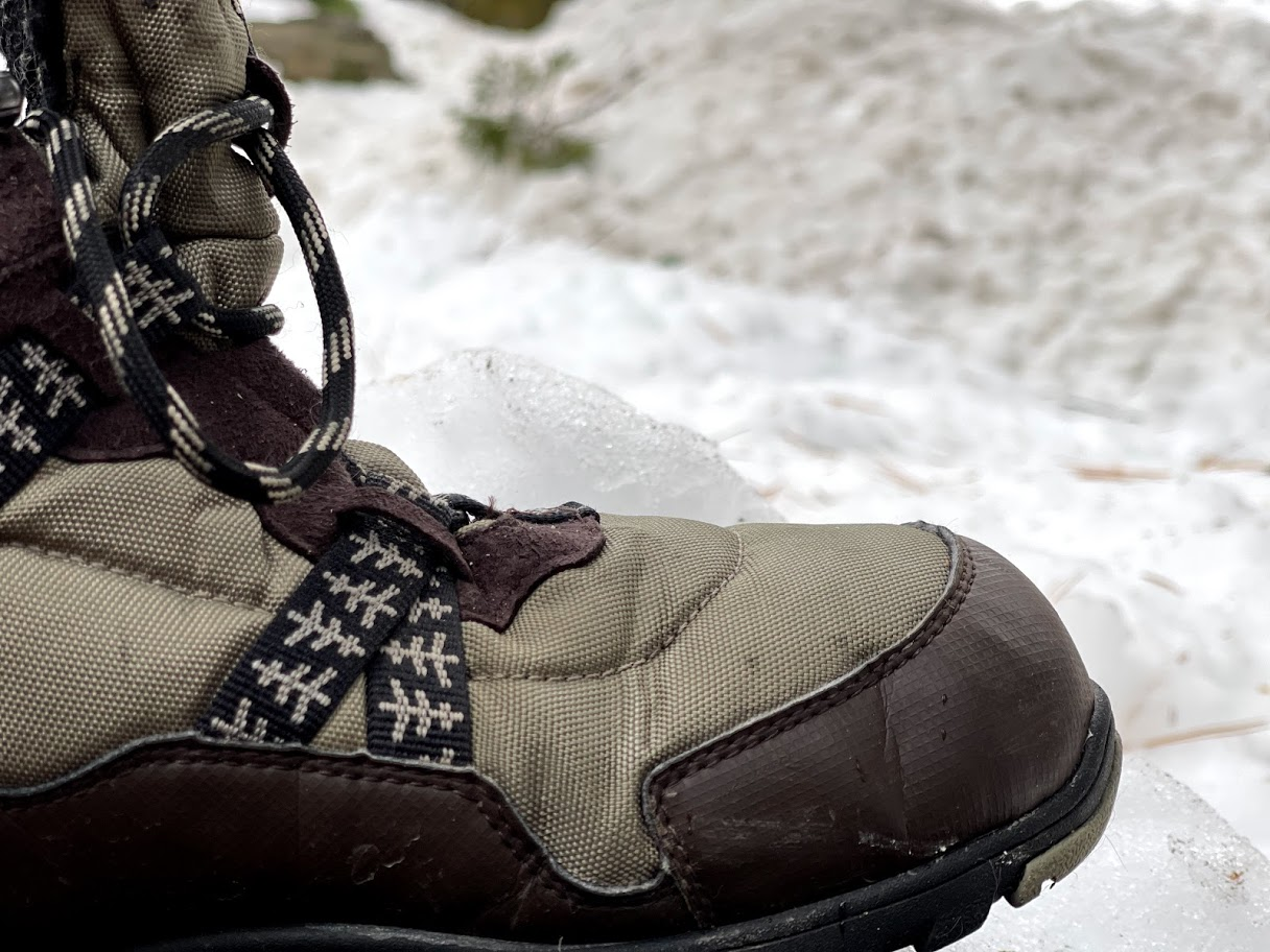 Xero Shoes Alpine Snow Boot, closeup of toebox area