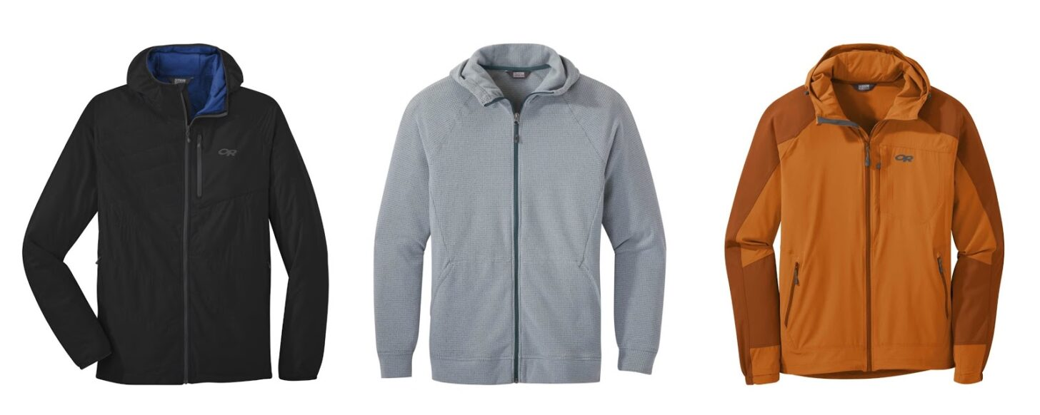 three jackets from Outdoor Research