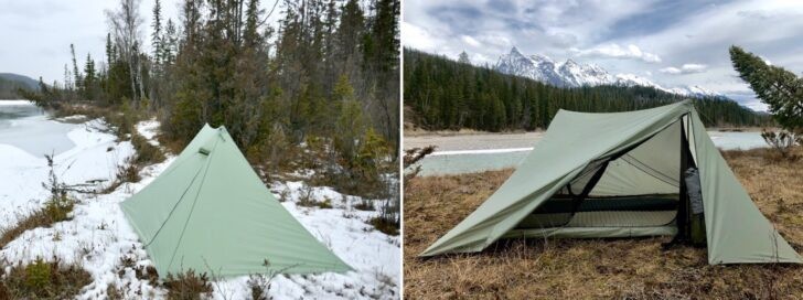 two variations on the same tent design