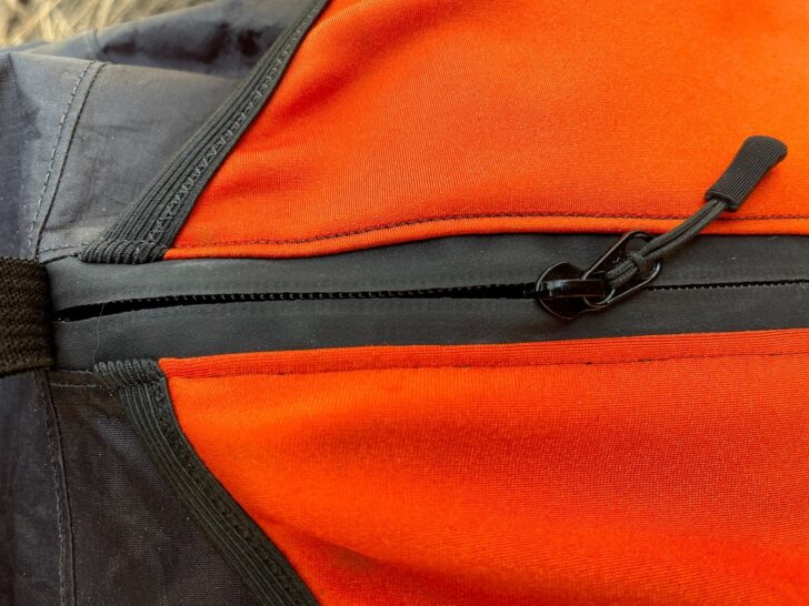 a close up of the zipper used on the pack.