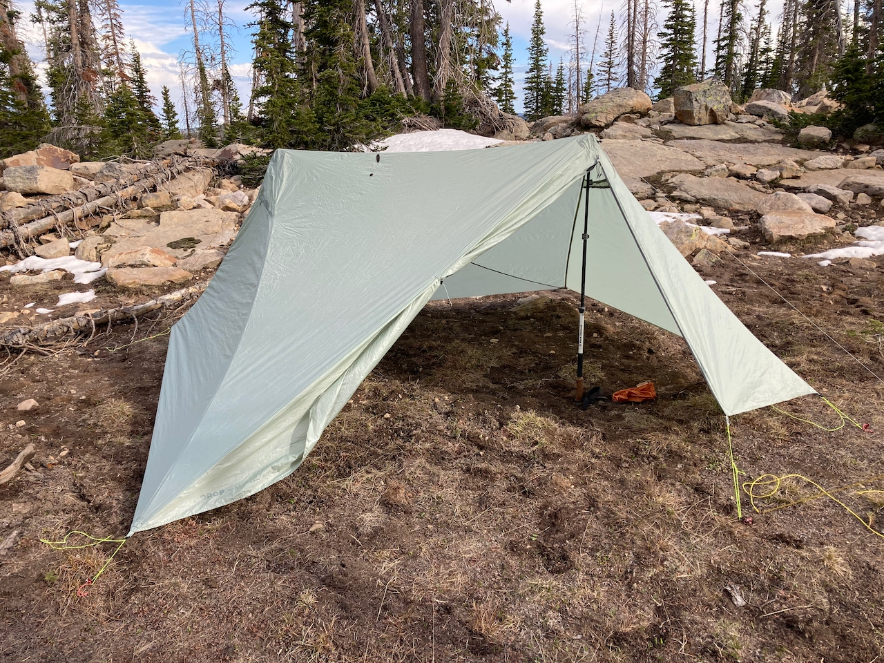 Pitched tarp-only, the X-mid 2P is gigantic.
