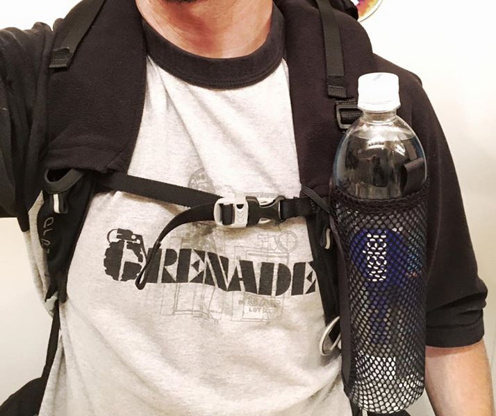 Water Bottle On Front Of Pack Goruck