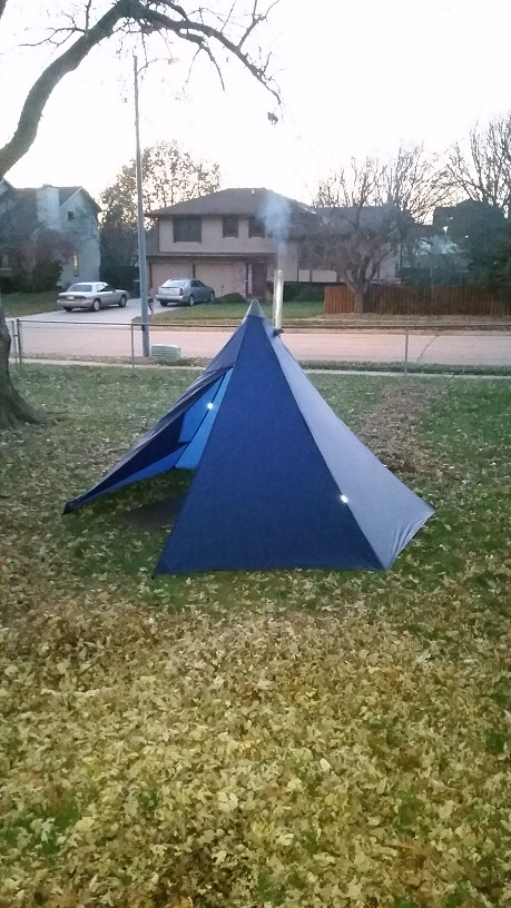 Please forgive some of the crappy quality of the pictures & Finished my Tipi hot tent (picture heavy) - Backpacking Light