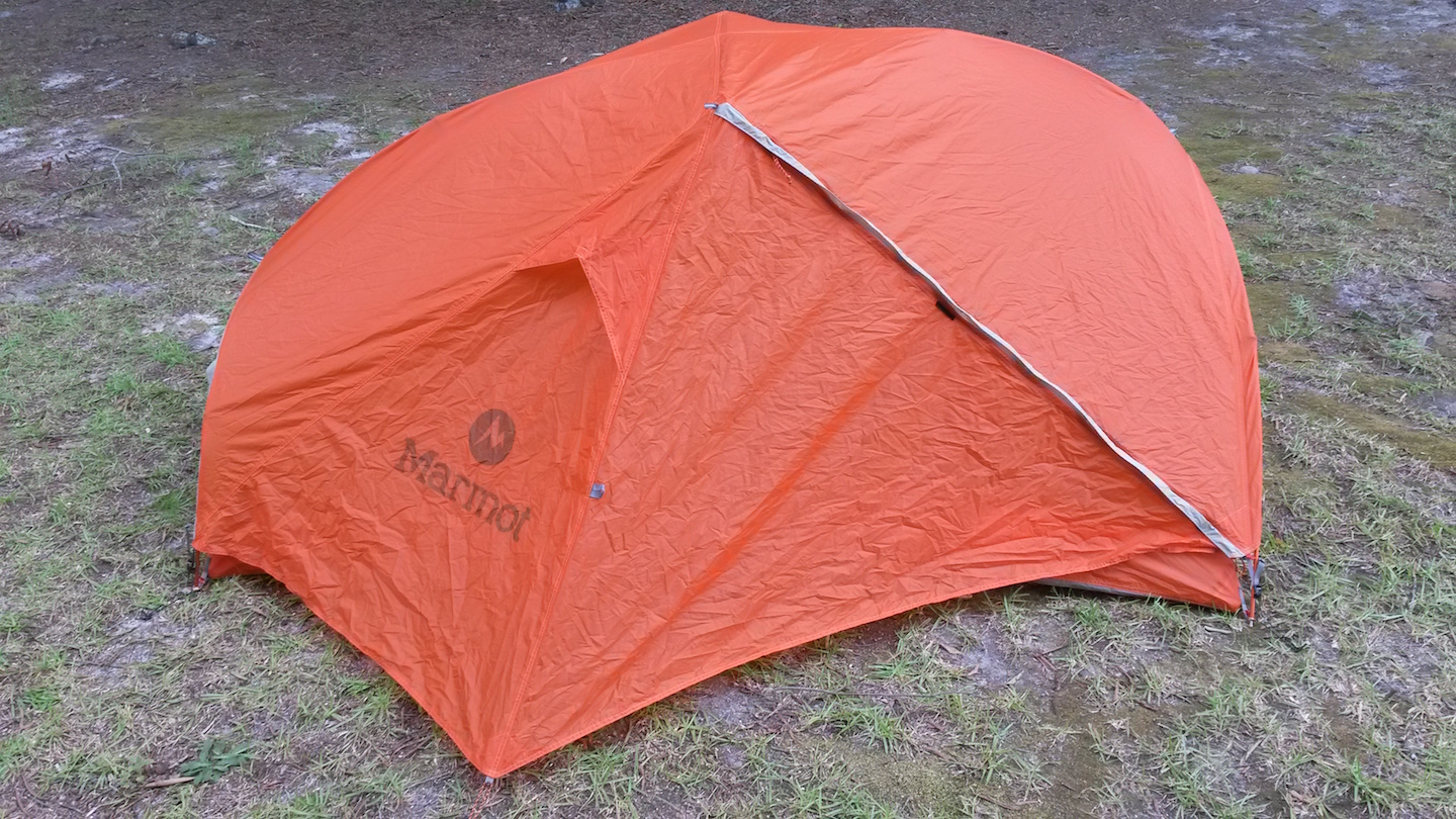 Includes stuff sack Marmot ground cloth small patch/pole repair kit and guylines. $150. Price includes shipping in continental US. & FS: Marmot Pulsar 2P tent - Backpacking Light