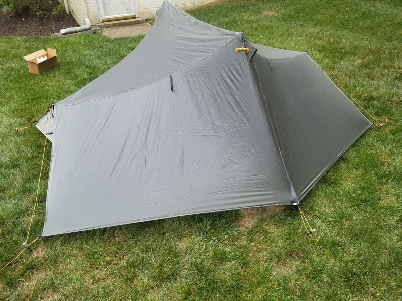 I only did a sloppy job seam sealing it but plan to use it with our scout troop this weekend. Hopefully Iu0027ll get better at getting it nice and taut. & Tarptent Saddle 2 Arrived - Backpacking Light