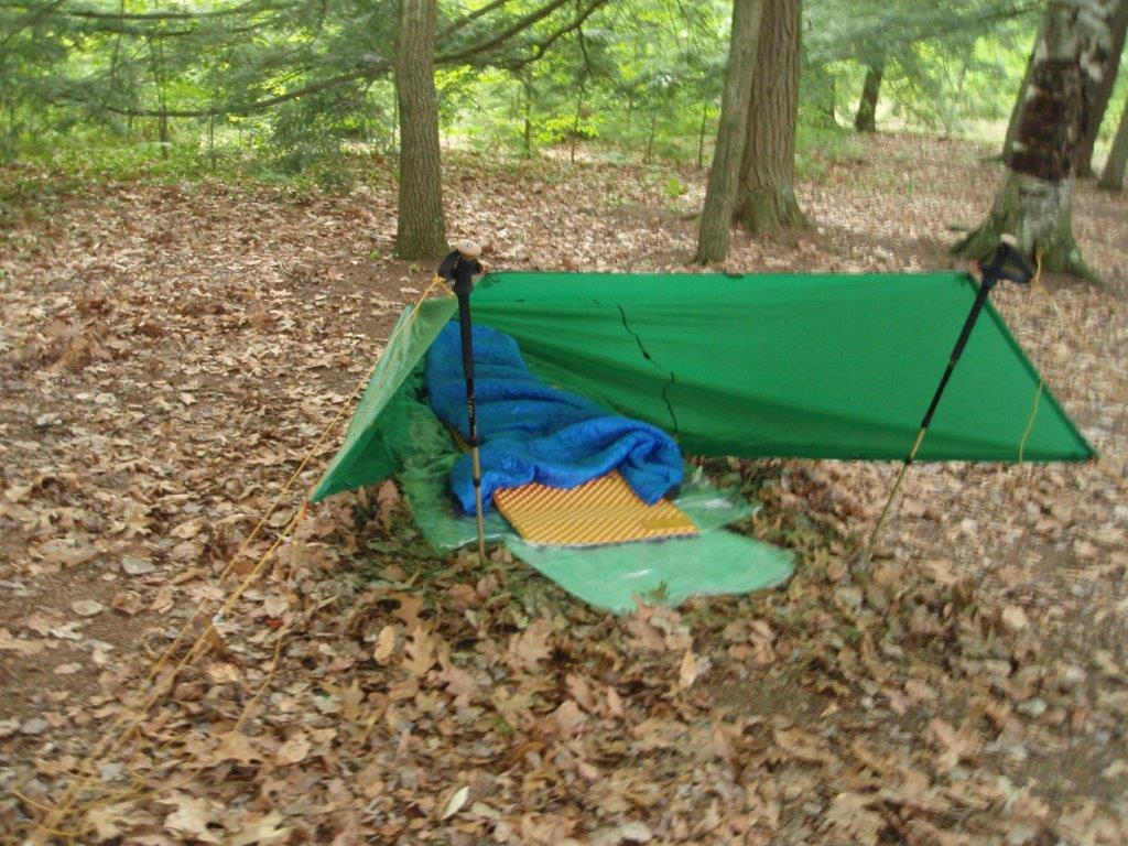 I started with an 8×10 tarp in a couple of different configurations. Here are some photos when I had my tarp pitched to receive a storm coming in from the ... & SUL Tent - Backpacking Light