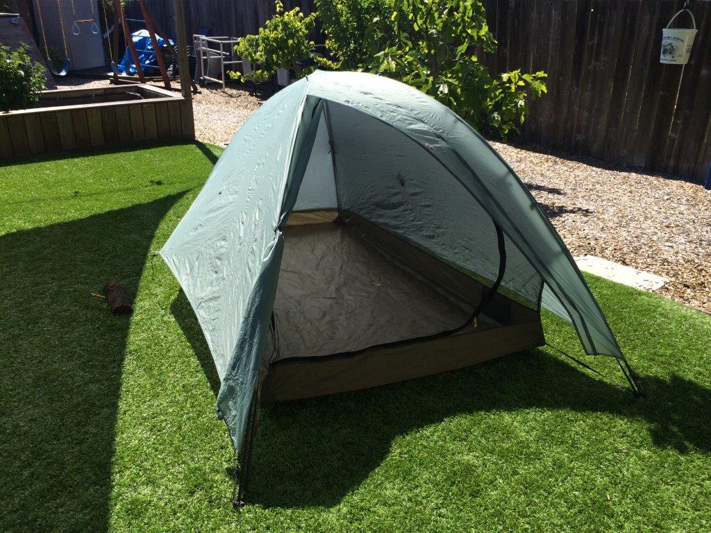 Big Sky Soul 2P Tent with Fly Door Open & Big Sky Soul 2P Tent and Tarptent Rainbow For Sale - Backpacking Light