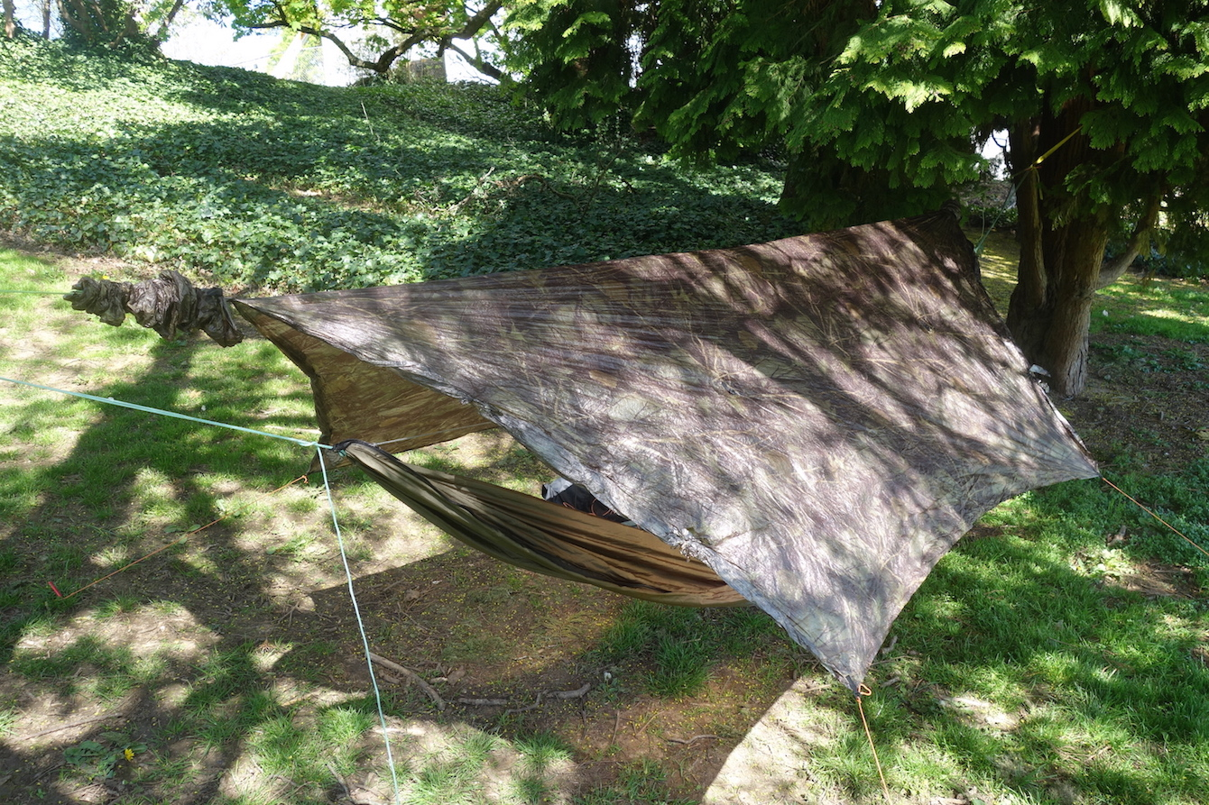 sold sold  hammock gear standard cuben fiber tarp with doors camo      rh   backpackinglight