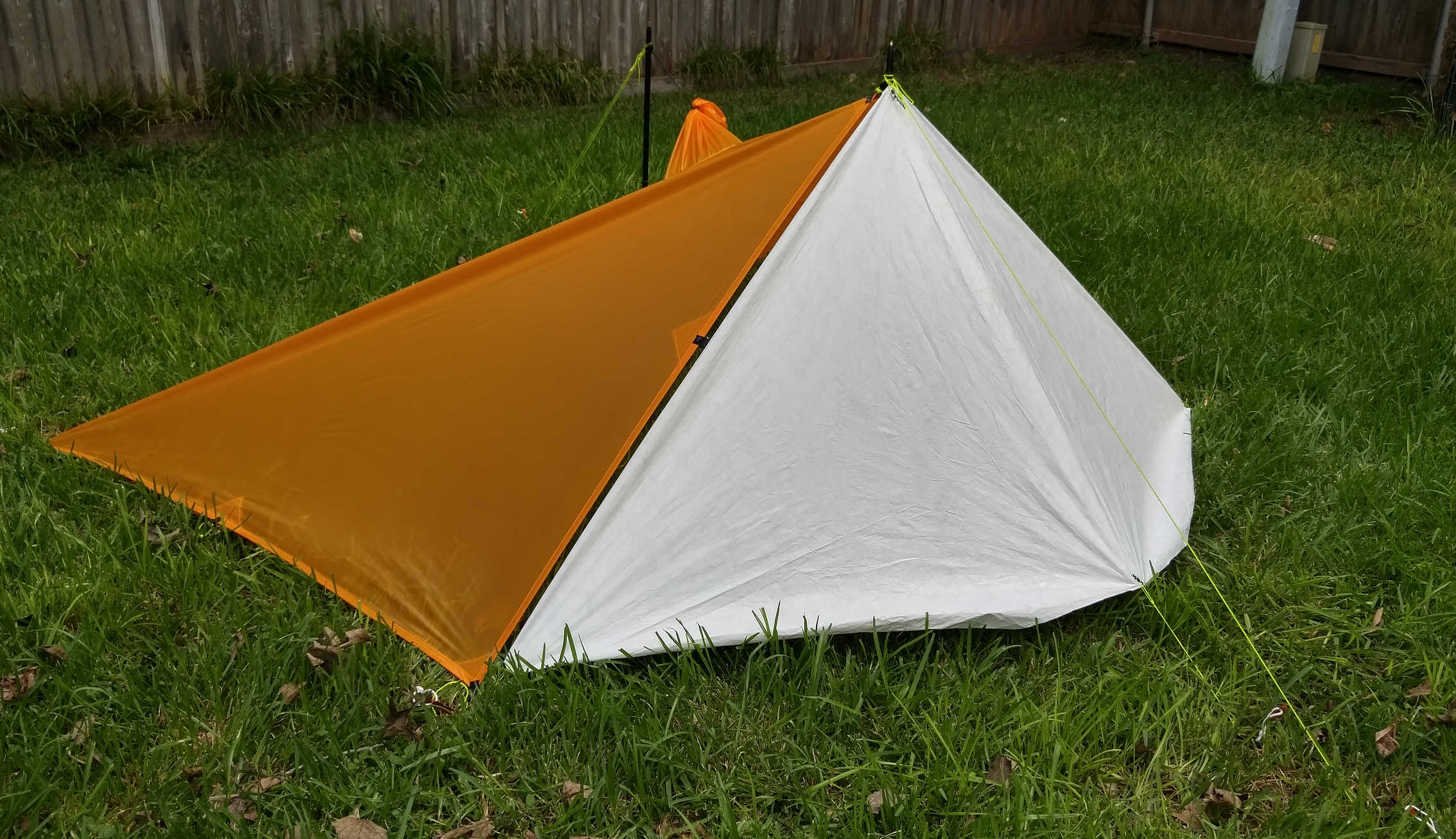 One idea is to add a ground cloth with tie-outs so that it can be used to enclose the half pyramid opening. Here are pictures of a version in 1443 Tyvec ... & Wanted: Tips u0026 Tricks for Poncho Tarp-ing - Backpacking Light