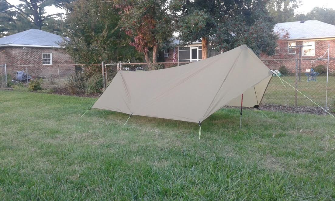 ... it will tear easier than reinforced silnylon depending on which direction you pull on it. That being said I have a u201ccigar brownu201d patrol shaped shelter ... & SilPoly Tarp Durability? - Backpacking Light