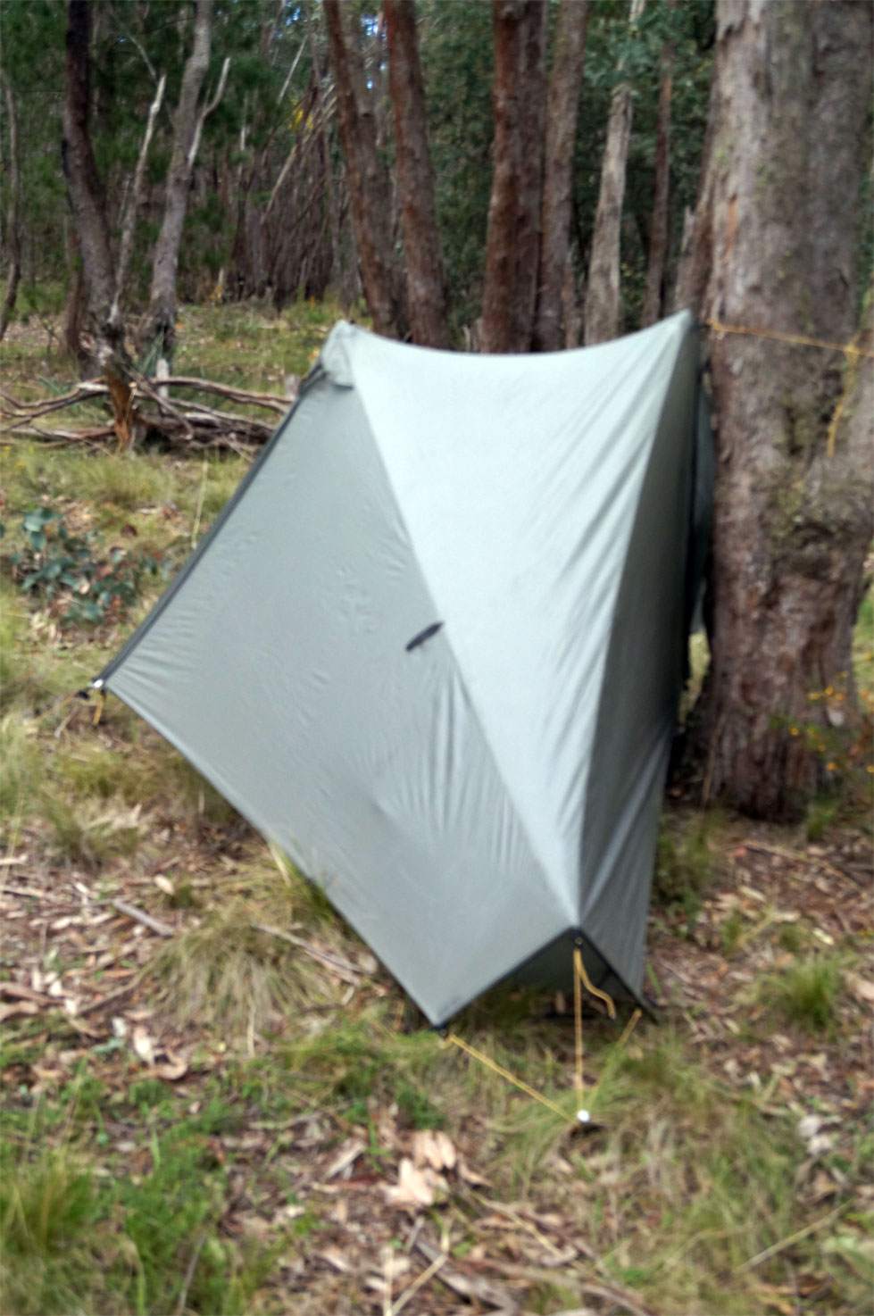 The last photo has the ugly side if set up with the door panels zipped up. You can minimise the flapping (if windy) on the side not in tension by using the ... & How big to cut a ground sheet for TarpTent Notch? - Backpacking Light