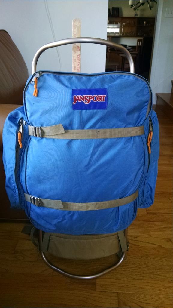 REI Youth Sleeping Bag and Vintage Jansport External Frame Pack ...