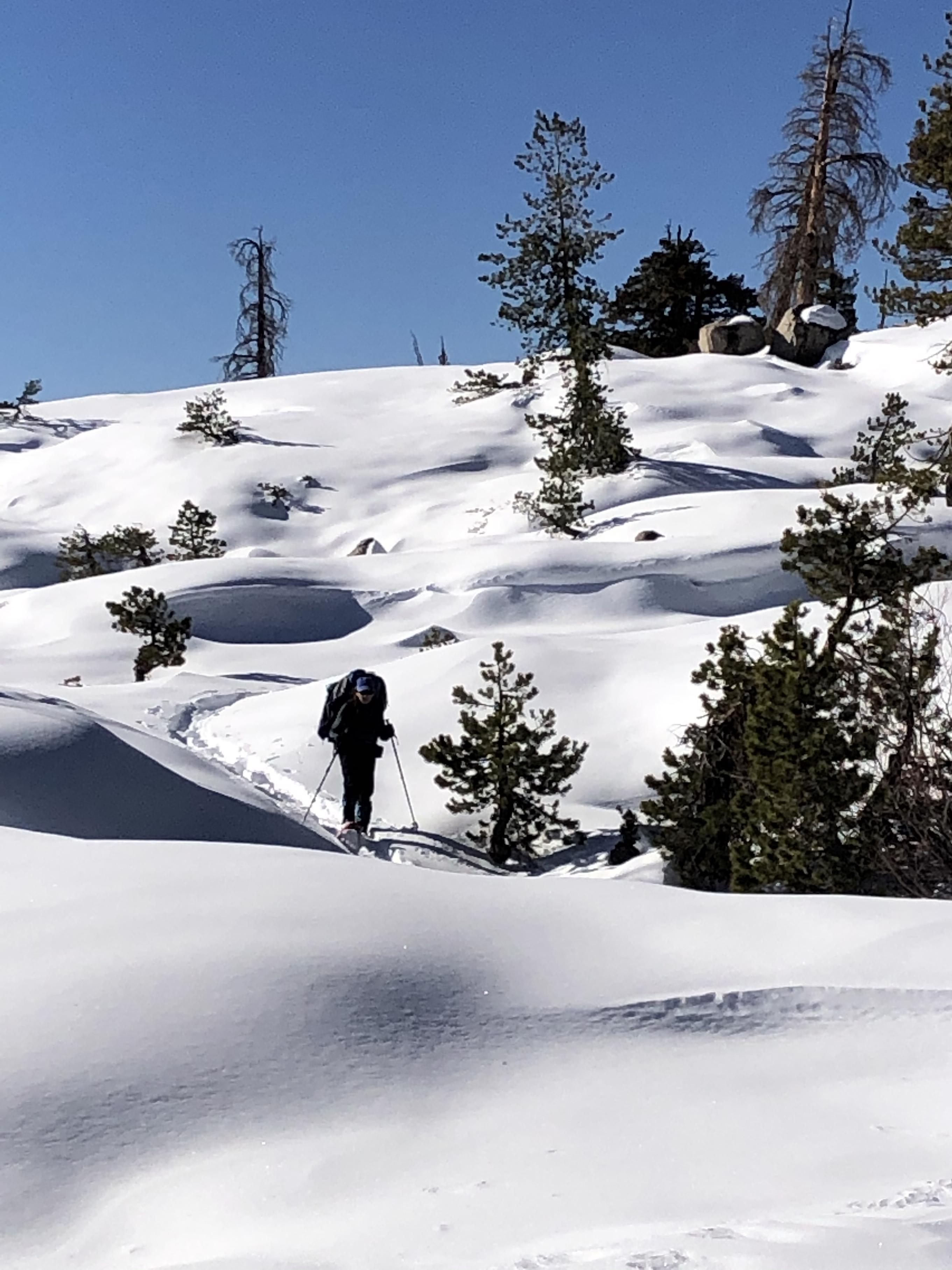 Gela on her way down to Piute Meadow
