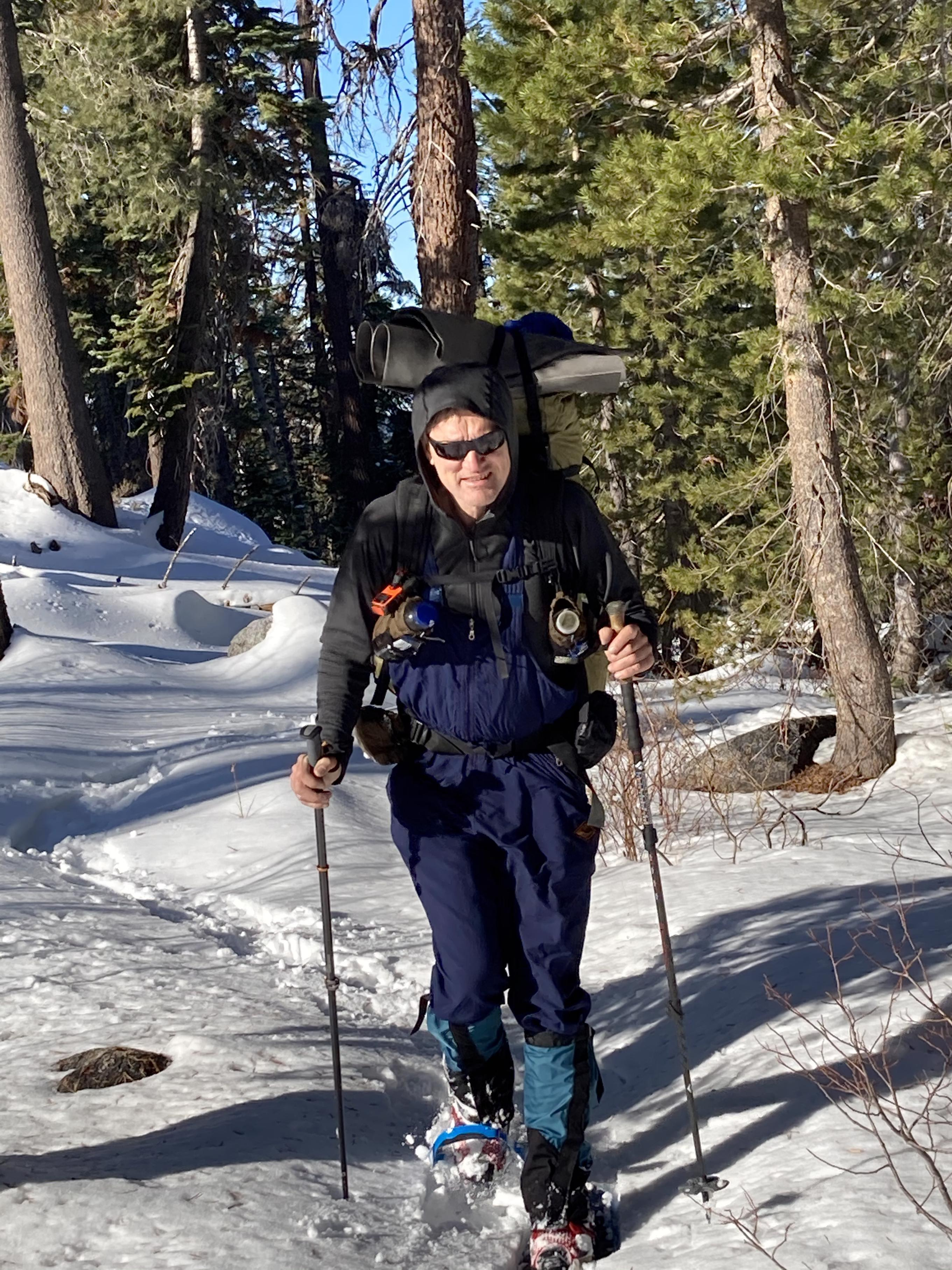Manfred snowshoeing
