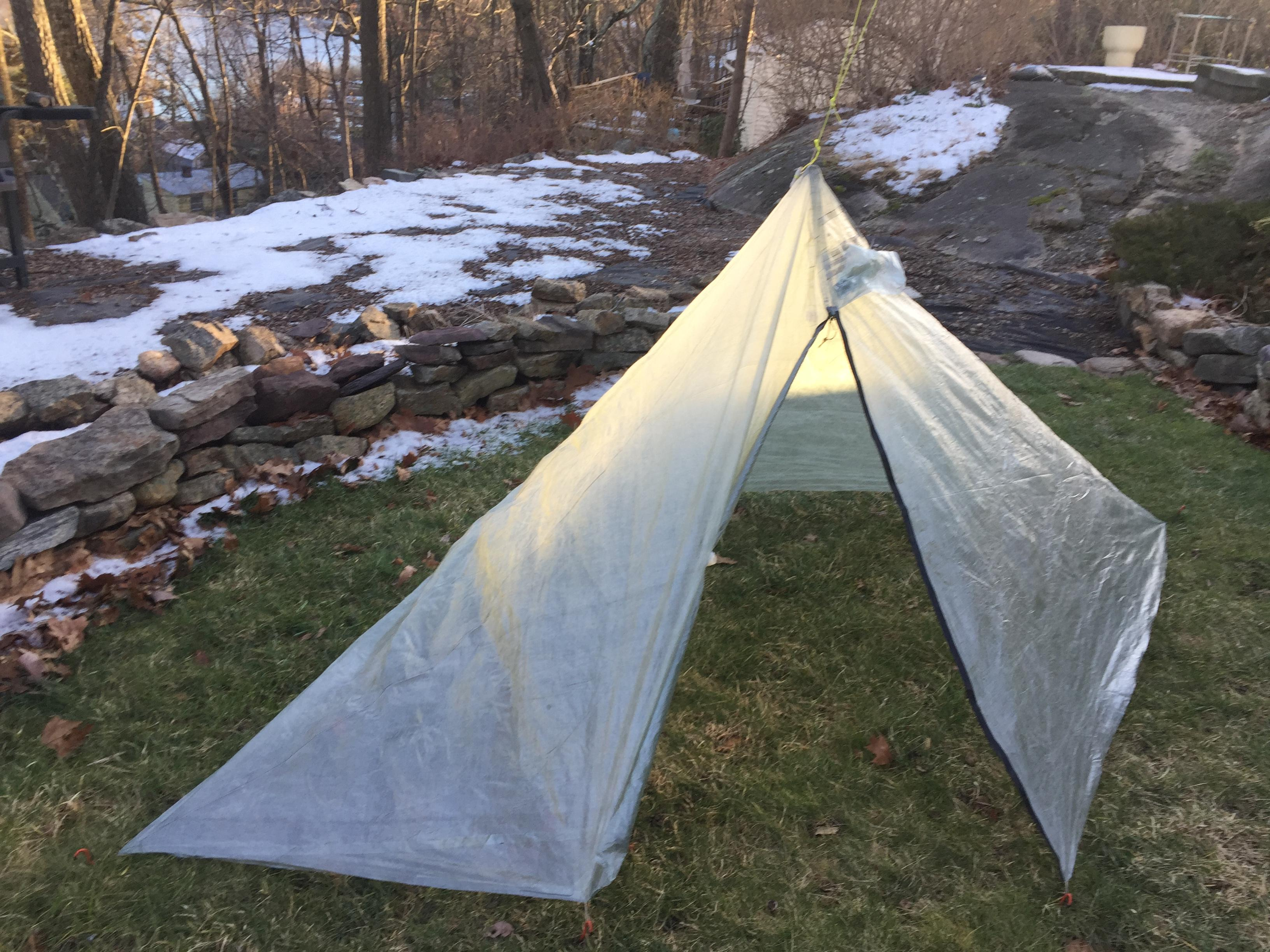 My 4.7 ounce tent, 0.51 oz/sqyd, 5ft x 9ft x 3.5ft high
